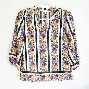 Collective Concepts Striped Floral Blouse